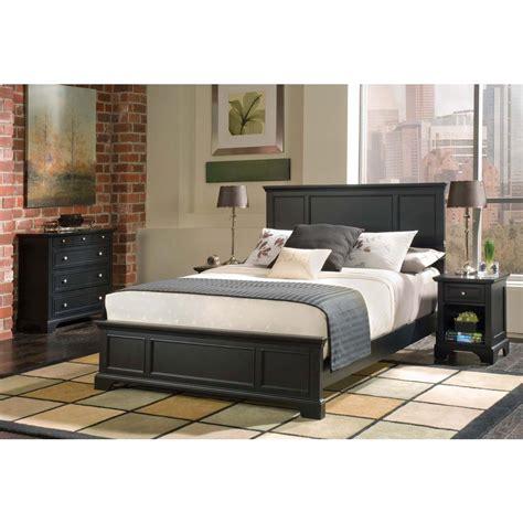 home styles bedford 4 piece black queen bedroom set 5531