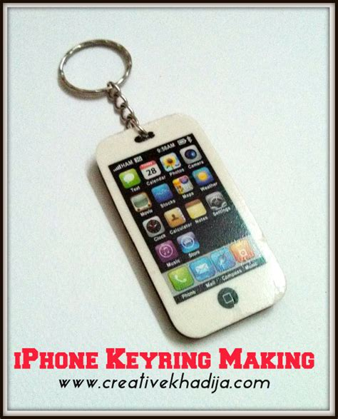 How To Make A Paper Keychain - iphone keyring