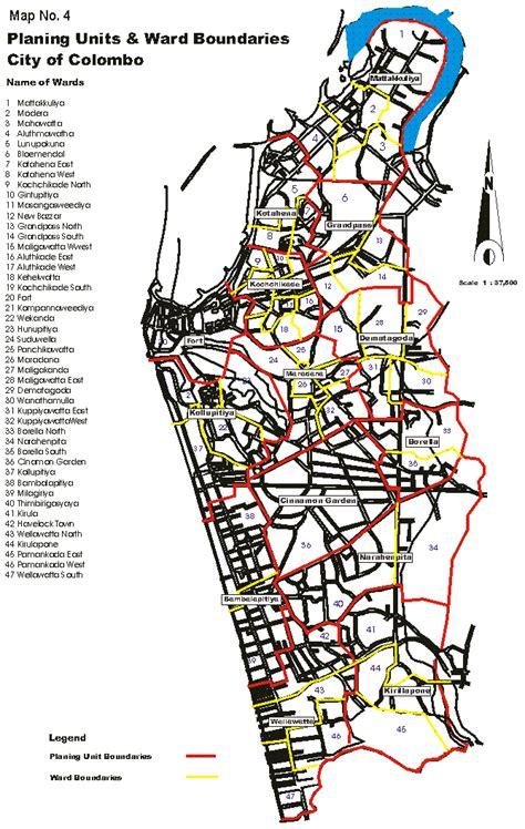 Map Home Decor map planing units amp ward boundaries city of colombo