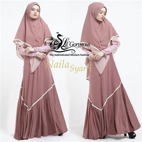 Gamis Lil Gorgeous Terbaru supplier baju muslim terbaru