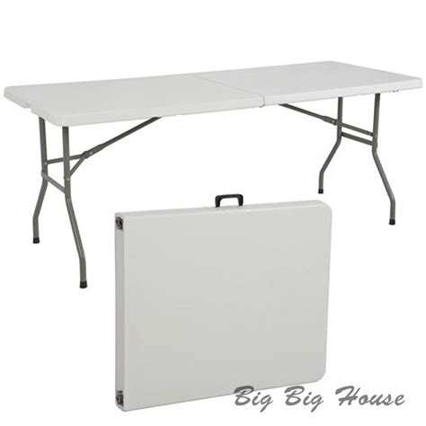 6 foot rectangular table folding table 6 ft rectangle fold in half table for