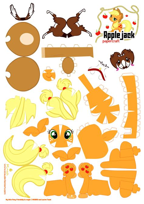My Papercraft - applejack papercraft by kna on deviantart