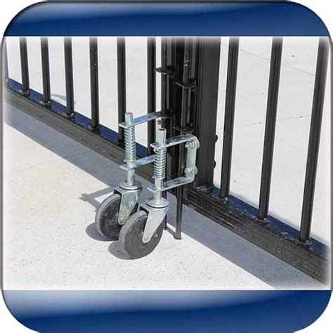 swing gate wheel spring loaded gate support wheel to fit on the free end