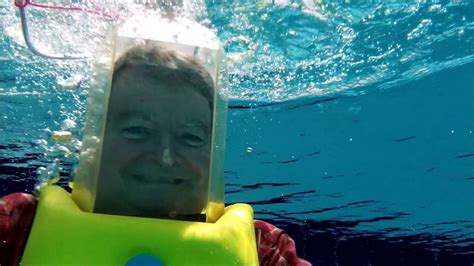 testing   aqua bell dive helmet   pool cruising tv