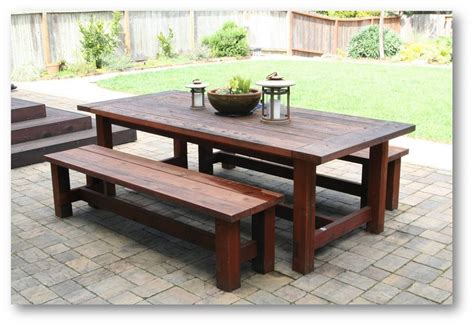 Patio Table With Bench Patio Dining Table By Doliver Lumberjocks Woodworking Community