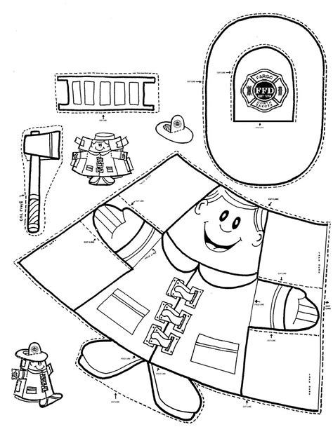 fire prevention coloring pages for kindergarten fire safety firemen puppet and cups