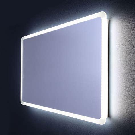 specchio da bagno specchio stondato per bagno illuminato a led da 120 cm