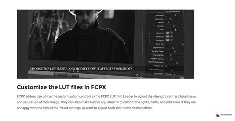 final cut pro lut pixel film studios releases fcpx lut noir for final cut pro x