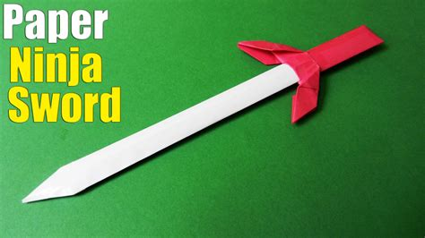 Paper Sword Origami - origami how to make a paper sword tutorial paper sword