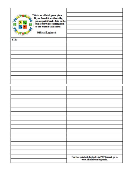 printable log book for geocaching pin geocache log sheets printable image search results on