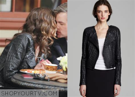 Days Of Our Lives Wardrobe by Days Of Our Lives Season 50 Episode 9 Hope S Crocodile Leather Moto Jacket Shop Your Tv