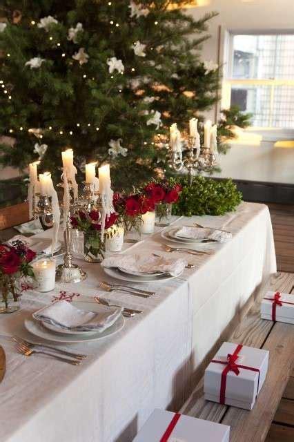 tavola natalizia shabby chic decorazioni tavola di natale in stile shabby chic foto 2