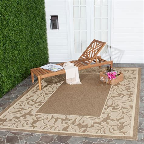 8 ft outdoor rug safavieh courtyard brown 8 ft x 11 ft indoor outdoor area rug cy2098 3001 8 the home