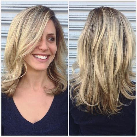 Layered Medium Length Hairstyles 2017 With Side Swept Bangs shoulder length hairstyles with side swept bangs and