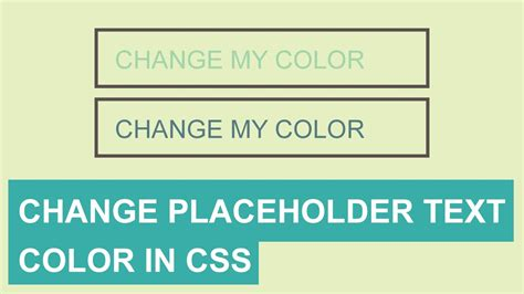 placeholder color css how to change css placeholder color tutorial