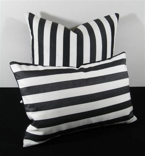 black and white striped pillow black and white stripe time outdoor pillow cushion 12x18