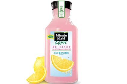 minute light lemonade drink minute light pink lemonade 2012 04 09 beverage