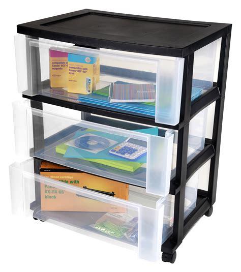 3 drawer storage cart iris 3 drawer wide storage cart
