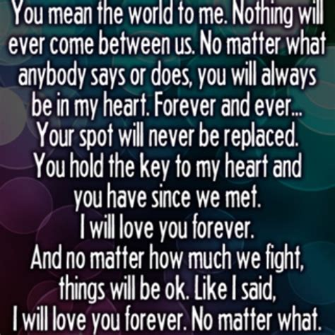 what does it will you be my you the world to me quotes quotesgram