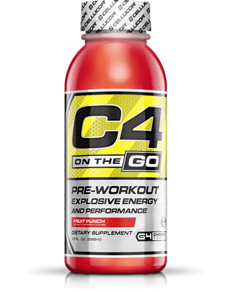c4 energy drink c4 on the go ready to drink pre workout cellucor
