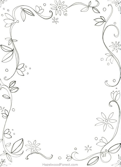 coloring page borders 7 best images of border coloring pages printable fancy