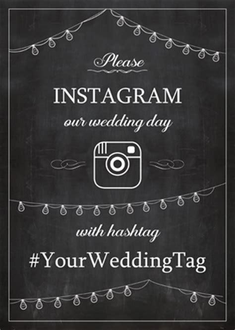 Instagram Wedding Sign Generator Wedding Hashtag Sign Template Free