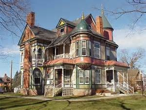 Victorian Mansions by Haunted House Garden Grove Iowa Historic Queen Anne