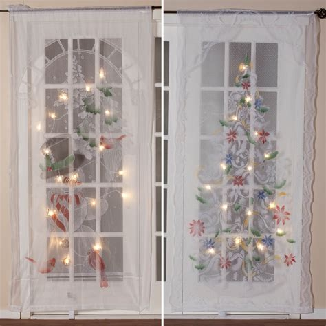 lighted christmas curtain panels lighted christmas curtain panel led curtain miles kimball