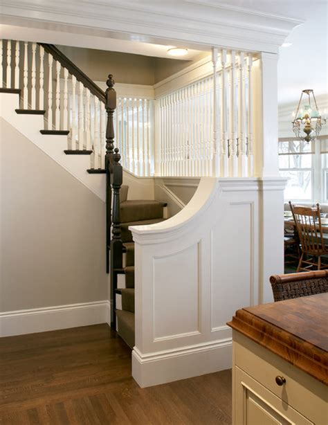 Benja En Side Slit this house stair traditional boston by