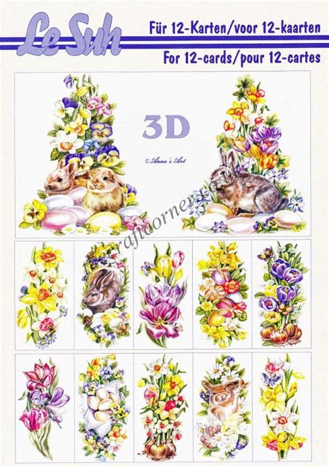 Easter Decoupage - easter a5 3d decoupage book from le suh