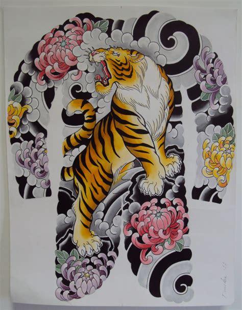traditional japanese tiger tattoo designs artist deneka dragons japanese tattoos