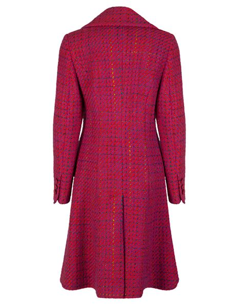A Line Coat pink a line linton tweed coat myles anthony