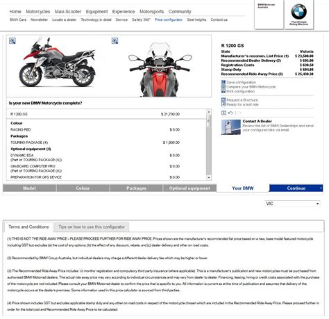 Bmw Motorrad Configurator by Bmw Motorrad Launches Price And Specification Configurator