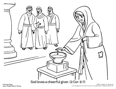 God A Cheerful Giver Coloring Page cheerful giver coloring page