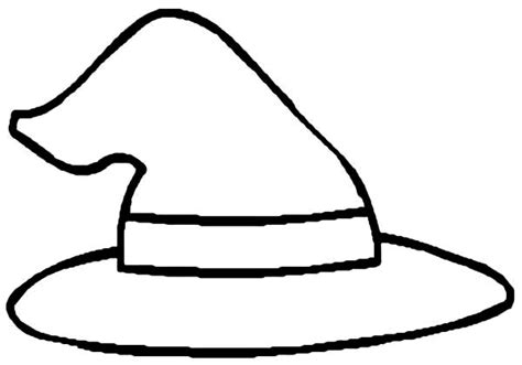 Simple And Easy Cowboy Hat Coloring Pages Coloring Sun Witch Hat Coloring Page