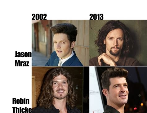 Robin Thicke Meme - robin thicke is just jason mraz aging backwards meme guy