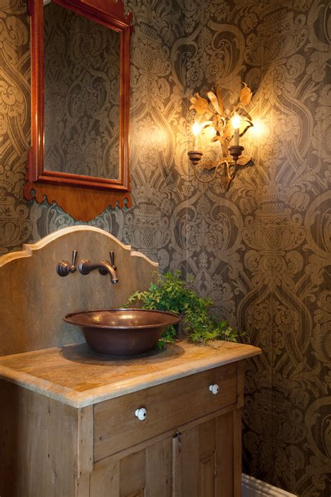 powder room vessel sink copper vessel sinks bathroom traditional with accessories