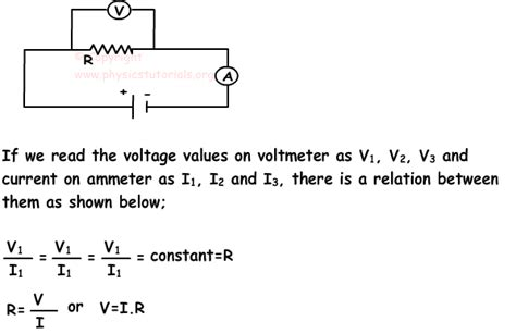 resistor current formula ohm s resistance and resistors