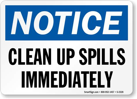 How To Clean Up Spills In Kitchen by Clean Up Signs Images