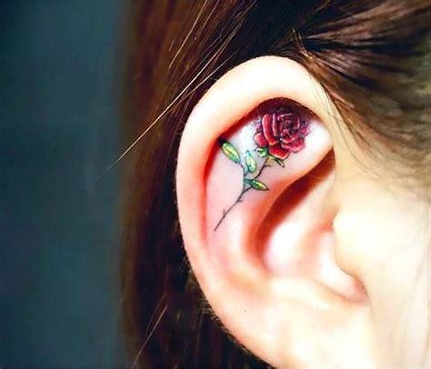 rose ear tattoo 25 best ideas about ear tattoos on