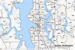 Zip Code Map Seattle by Seattle Washington Printable U S Zip Code Boundary Maps