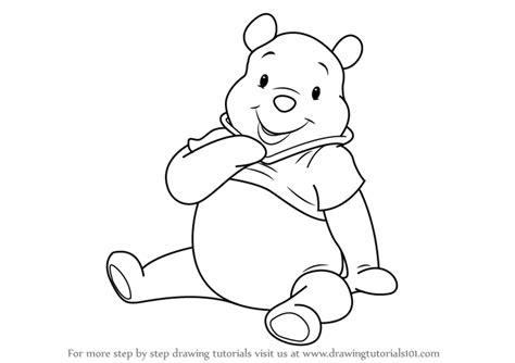 learn draw pooh bear winnie pooh winnie pooh step step drawing