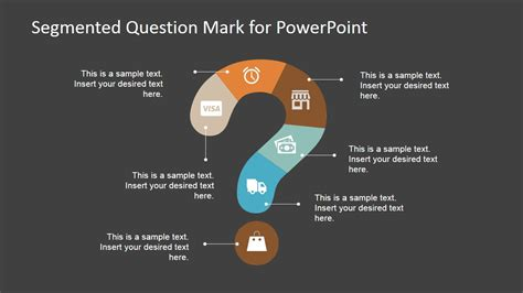 design questions segmented question mark design for powerpoint slidemodel