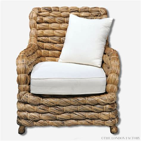banana leaf armchair seagrass wicker banana leaf occasional arm chair the