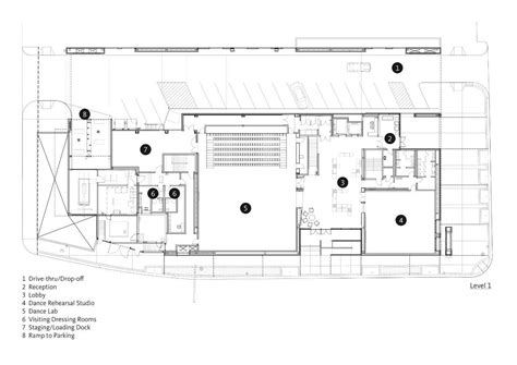 plans design gallery of houston ballet center for dance gensler 10