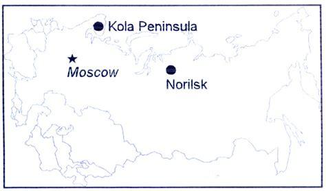 norilsk russia maps 3 mining technology