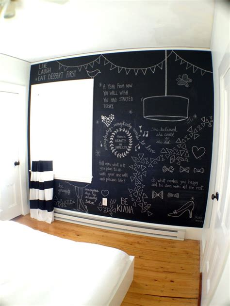 25 best ideas about chalkboard wall bedroom on