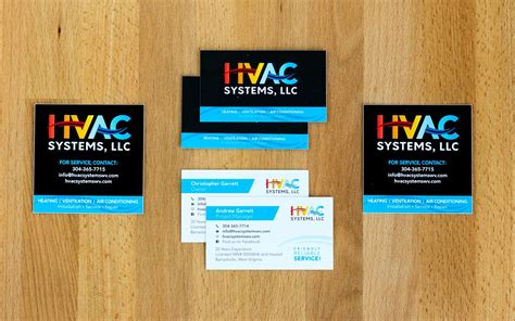 hvac business card template free air conditioning business cards choice image card