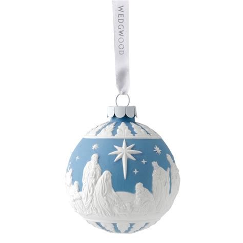 nativity ball christmas ornament 2017 wedgwood silver
