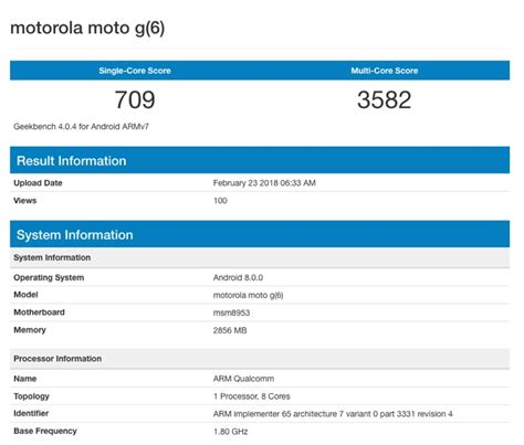Speed Read Feed For February 23 2007 by Motorola Moto G6 Appears On Geekbench Geeky Gadgets